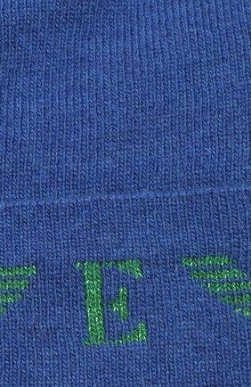 Детского шапка EMPORIO ARMANI синего цвета, арт. 394614/1A761   Фото 3 (Материал: Текстиль, Шерсть, Вискоза, Синтетический материал)