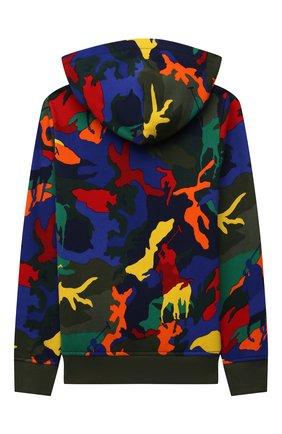 Детский хлопковое худи POLO RALPH LAUREN разноцветного цвета, арт. 323844800 | Фото 2