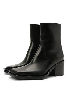 Мужские кожаные сапоги cut BALENCIAGA черного цвета, арт. 653993/WBBW1 | Фото 1