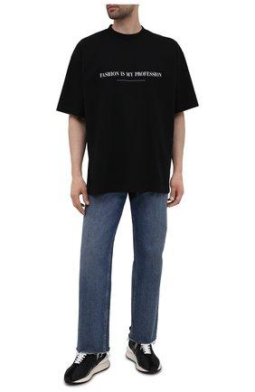 Мужская хлопковая футболка VETEMENTS черного цвета, арт. UA52TR260B 1610/M | Фото 2