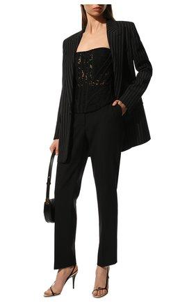 Женские укороченные шерстяные брюки со стрелками DOLCE & GABBANA черного цвета, арт. FTAM2T/FUBAJ | Фото 2