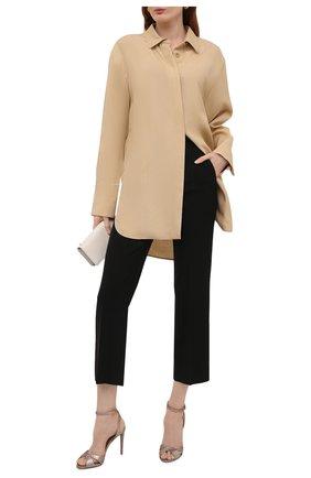 Женские кожаные босоножки kandice RALPH LAUREN серебряного цвета, арт. 800844076 | Фото 2 (Подошва: Плоская; Каблук высота: Высокий; Материал внутренний: Натуральная кожа; Каблук тип: Шпилька)
