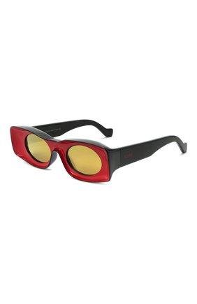 Женские солнцезащитные очки loewe x paula's ibiza LOEWE красного цвета, арт. LW40033I   Фото 1