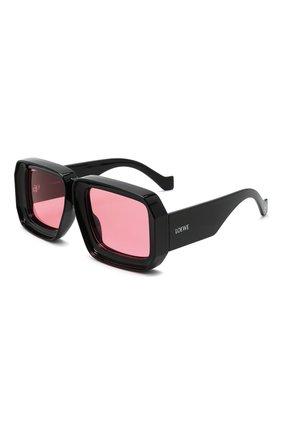 Женские солнцезащитные очки loewe x paula's ibiza LOEWE черного цвета, арт. LW40064U   Фото 1