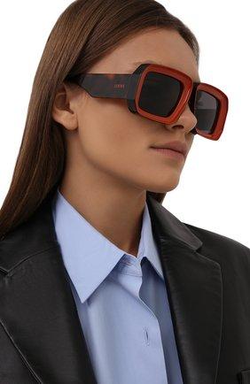 Женские солнцезащитные очки loewe x paula's ibiza LOEWE оранжевого цвета, арт. LW40064U   Фото 2