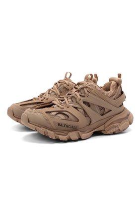 Женские текстильные кроссовки track BALENCIAGA бежевого цвета, арт. 542436/W2LA1 | Фото 1