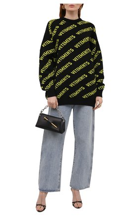 Женский шерстяной свитер VETEMENTS черного цвета, арт. UA52KN600B 2901/W | Фото 2