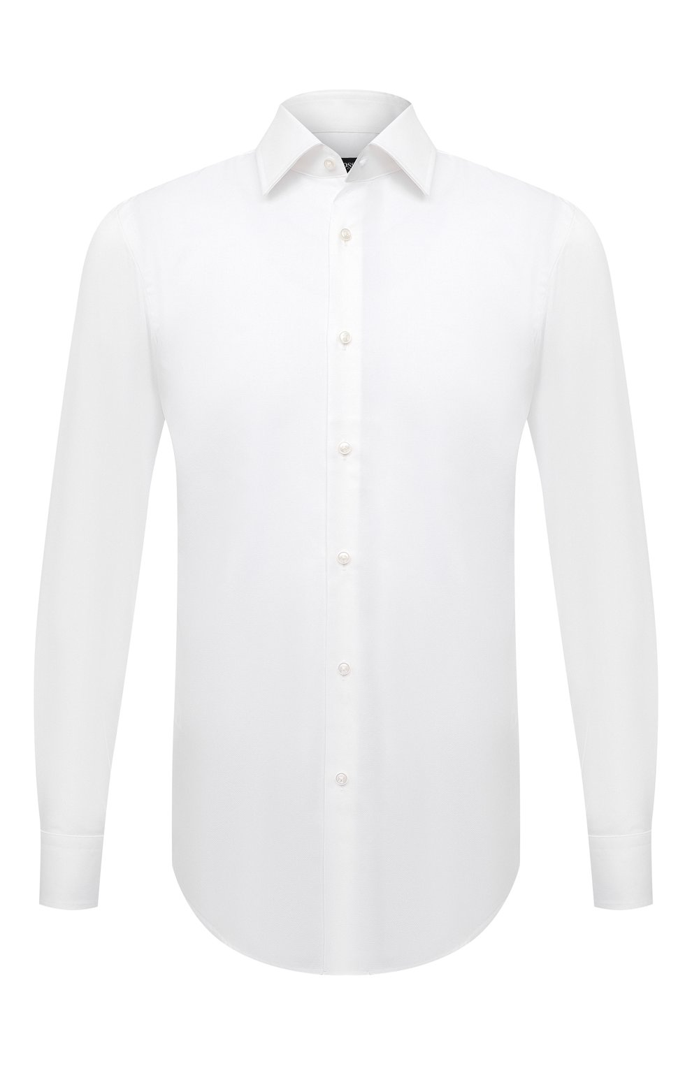 Мужская хлопковая сорочка BOSS белого цвета, арт. 50449766 | Фото 1