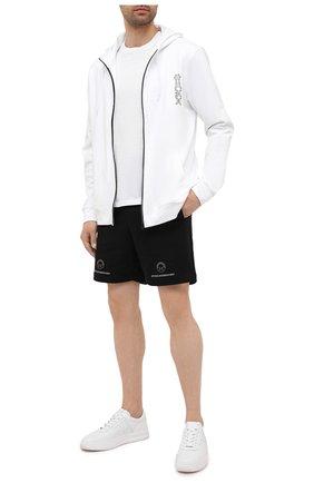 Мужские хлопковые шорты HUGO черного цвета, арт. 50454103 | Фото 2 (Материал внешний: Хлопок; Длина Шорты М: До колена; Кросс-КТ: Трикотаж; Стили: Спорт-шик)