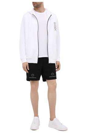 Мужской хлопковая толстовка HUGO белого цвета, арт. 50456839 | Фото 2 (Материал внешний: Хлопок; Длина (для топов): Стандартные; Рукава: Длинные; Стили: Спорт-шик; Мужское Кросс-КТ: Толстовка-одежда)