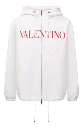 Мужская куртка из хлопка и вискозы VALENTINO белого цвета, арт. WV3CIK307N6 | Фото 1