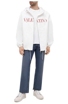 Мужская куртка из хлопка и вискозы VALENTINO белого цвета, арт. WV3CIK307N6 | Фото 2