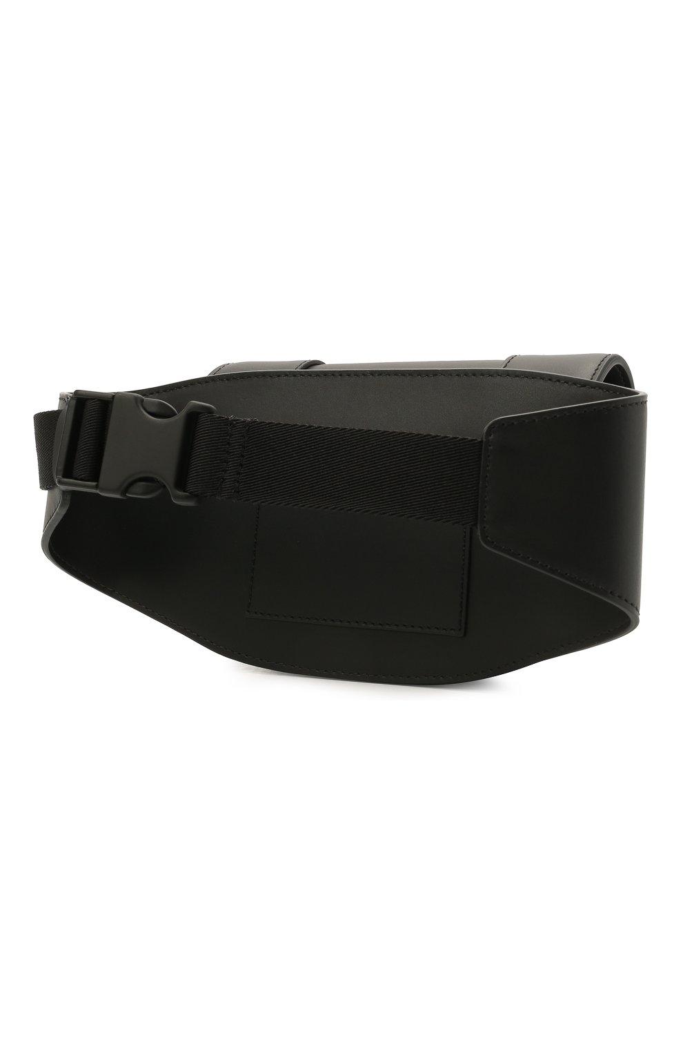 Мужская кожаная поясная сумка supervee VALENTINO черного цвета, арт. WY2B0A17/SFU   Фото 3