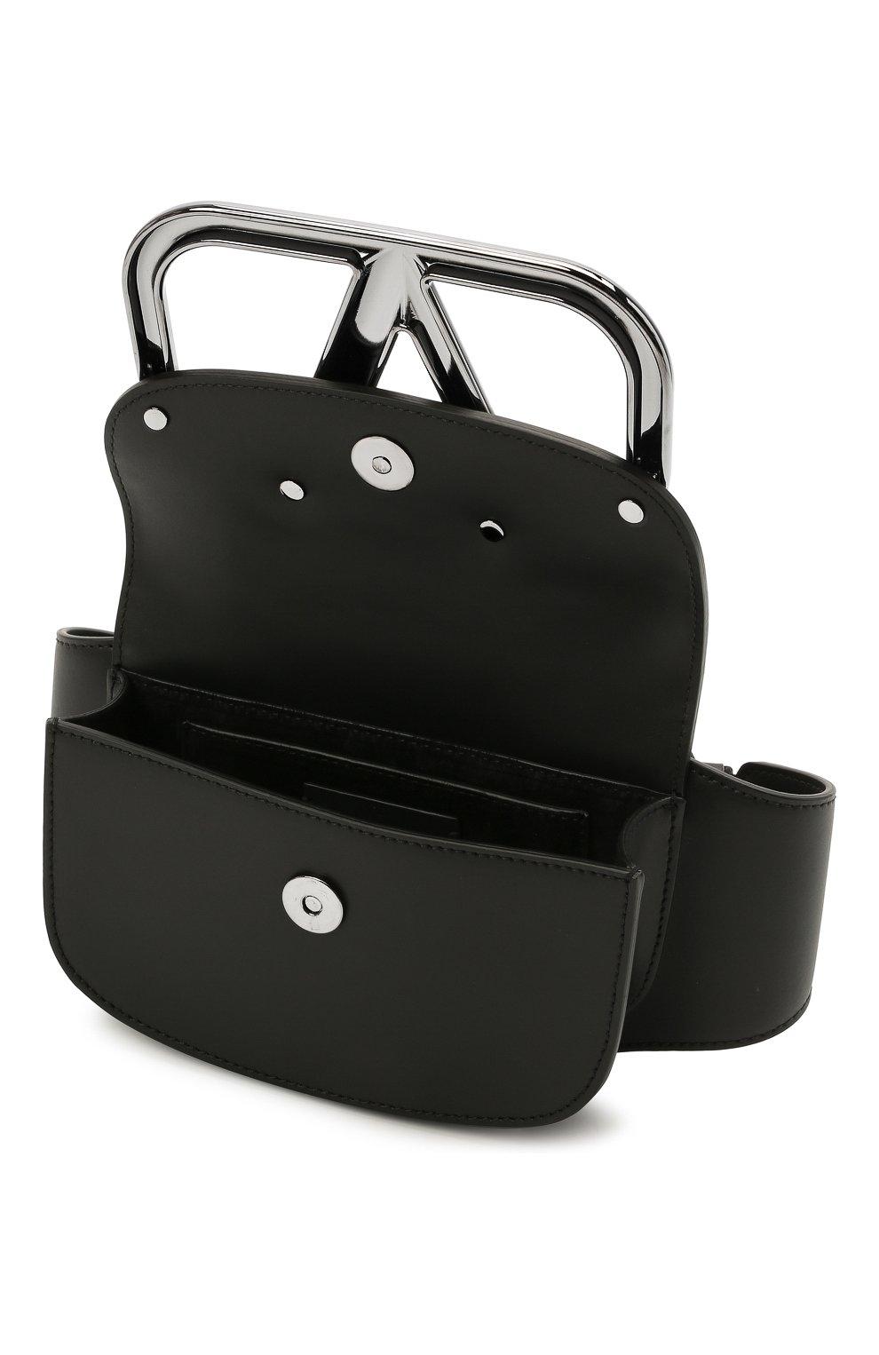 Мужская кожаная поясная сумка supervee VALENTINO черного цвета, арт. WY2B0A17/SFU   Фото 4