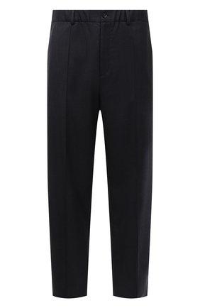 Мужские шерстяные брюки VALENTINO серого цвета, арт. WV3RBG907CF | Фото 1 (Материал внешний: Шерсть; Длина (брюки, джинсы): Стандартные; Случай: Повседневный; Стили: Минимализм)