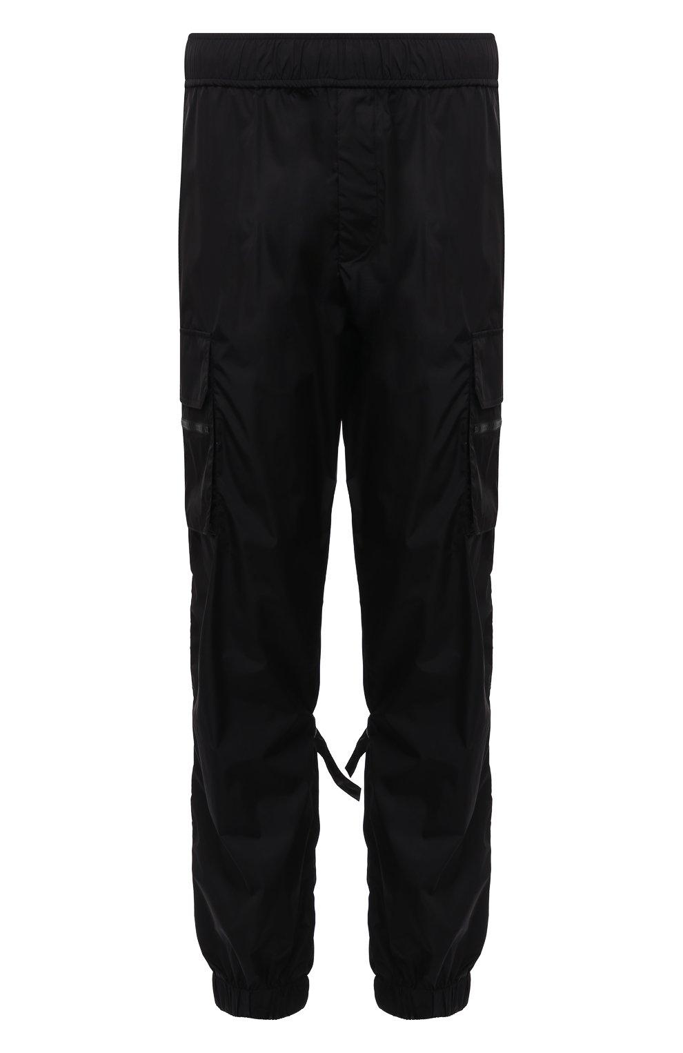 Мужские джоггеры VALENTINO черного цвета, арт. WV3REB216FN | Фото 1 (Длина (брюки, джинсы): Стандартные; Материал внешний: Синтетический материал; Стили: Гранж; Силуэт М (брюки): Джоггеры)