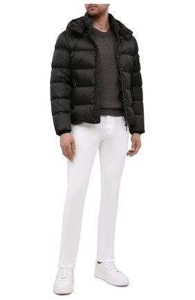 Мужские джинсы с отделкой из кожи каймана JACOB COHEN белого цвета, арт. J688 ECCELLENZA C0MF 02323-W1/55   Фото 2
