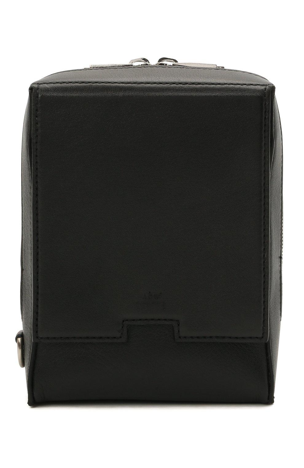 Мужская кожаная сумка A-COLD-WALL* черного цвета, арт. ACWUGL014 | Фото 1