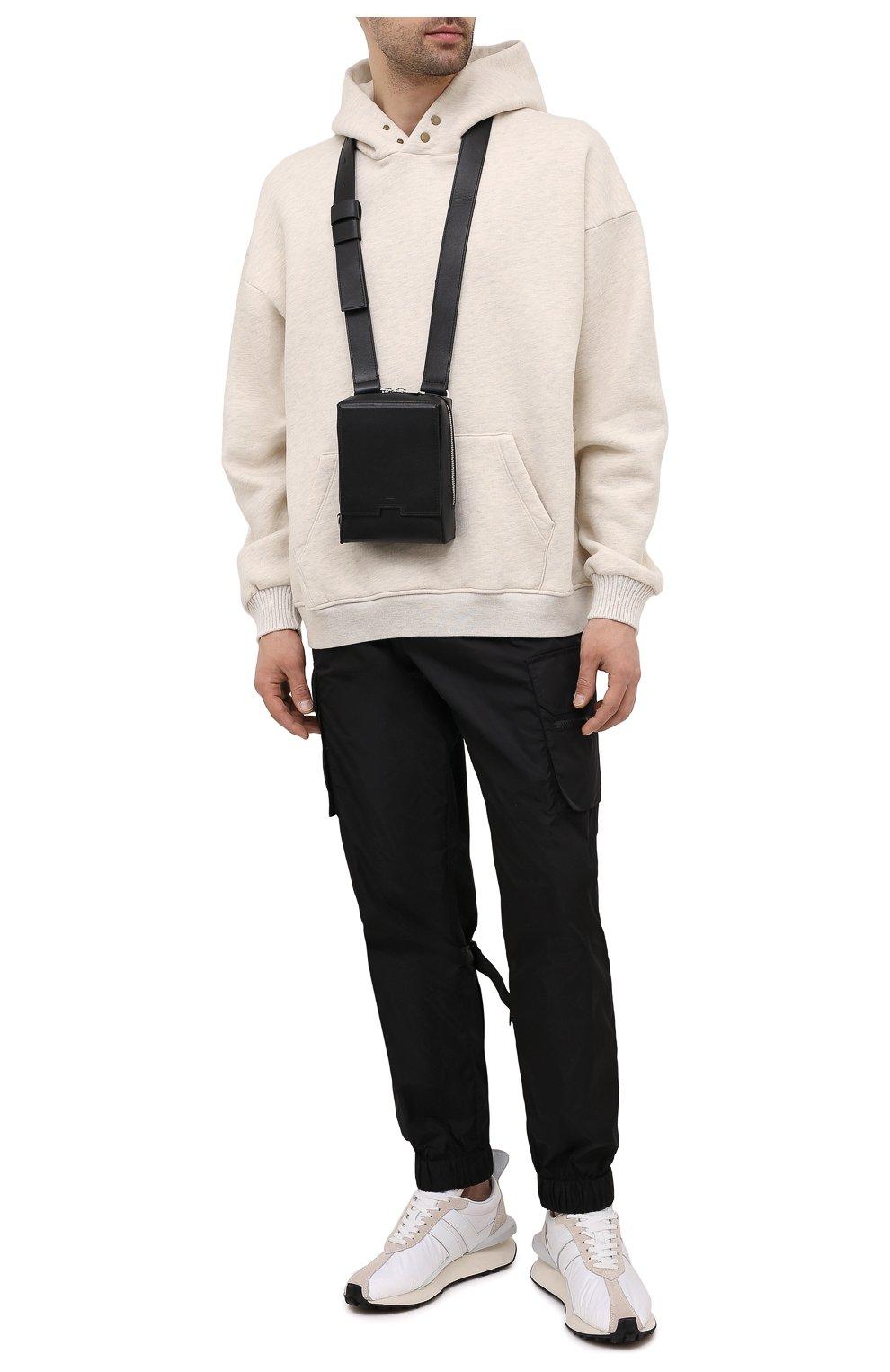 Мужская кожаная сумка A-COLD-WALL* черного цвета, арт. ACWUGL014 | Фото 2