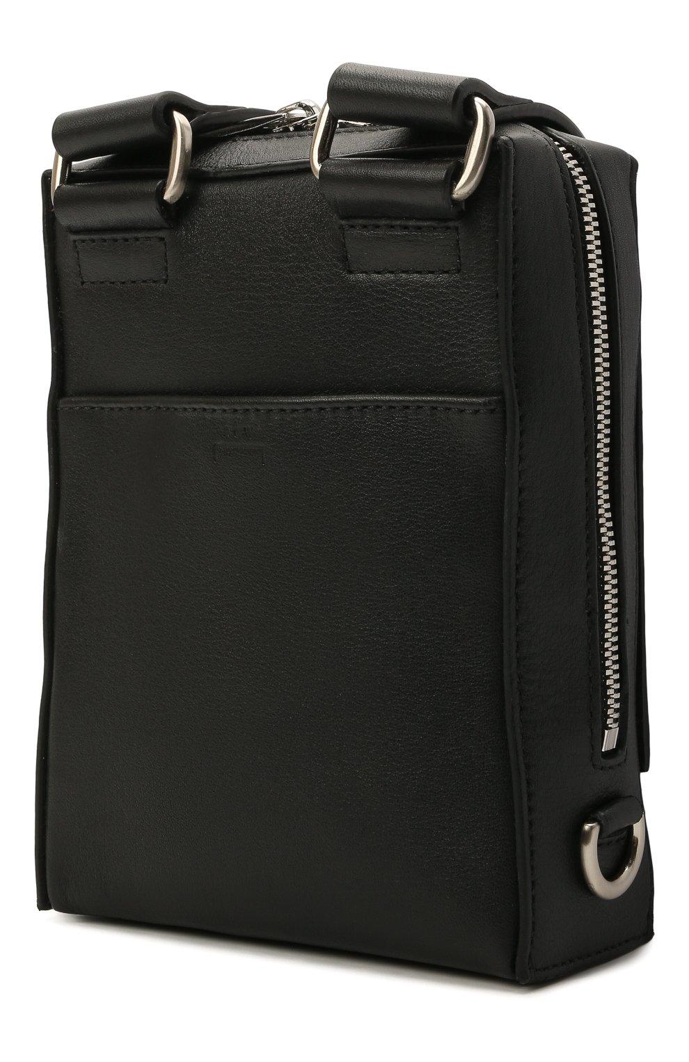 Мужская кожаная сумка A-COLD-WALL* черного цвета, арт. ACWUGL014 | Фото 3
