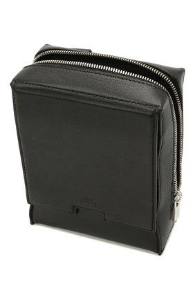Мужская кожаная сумка A-COLD-WALL* черного цвета, арт. ACWUGL014 | Фото 4