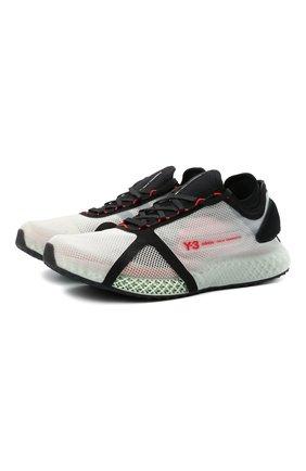 Мужские текстильные кроссовки runner 4d io Y-3 белого цвета, арт. FZ4501/M | Фото 1 (Материал внутренний: Текстиль; Подошва: Массивная; Материал внешний: Текстиль; Стили: Спорт)