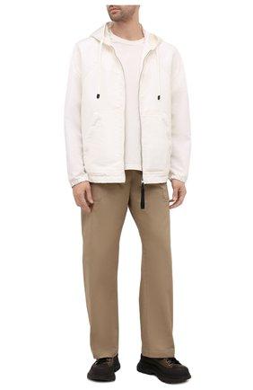 Мужские кожаные кроссовки ALEXANDER MCQUEEN хаки цвета, арт. 627206/WHYK3 | Фото 2 (Материал внутренний: Натуральная кожа; Подошва: Массивная; Стили: Гранж)