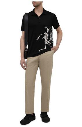 Мужские текстильные кеды ALEXANDER MCQUEEN черного цвета, арт. 654594/W4MV7 | Фото 2