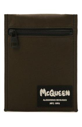 Мужская текстильная сумка ALEXANDER MCQUEEN хаки цвета, арт. 663099/1AAB1 | Фото 1 (Ремень/цепочка: На ремешке)