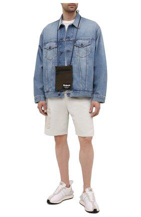 Мужская текстильная сумка ALEXANDER MCQUEEN хаки цвета, арт. 663099/1AAB1 | Фото 2 (Ремень/цепочка: На ремешке)