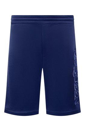 Мужские шорты из вискозы и хлопка ALEXANDER MCQUEEN синего цвета, арт. 662588/QRZ74 | Фото 1 (Материал внешний: Хлопок; Длина Шорты М: До колена; Кросс-КТ: Трикотаж; Стили: Спорт-шик)