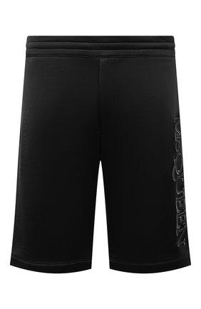 Мужские шорты из вискозы и хлопка ALEXANDER MCQUEEN черного цвета, арт. 662588/QRZ74 | Фото 1