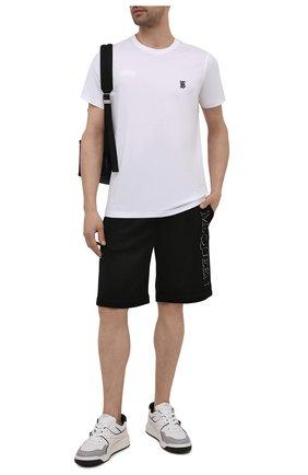 Мужские шорты из вискозы и хлопка ALEXANDER MCQUEEN черного цвета, арт. 662588/QRZ74 | Фото 2