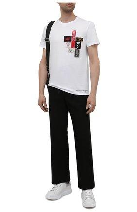 Мужская хлопковая футболка ALEXANDER MCQUEEN белого цвета, арт. 662485/QRZ58 | Фото 2