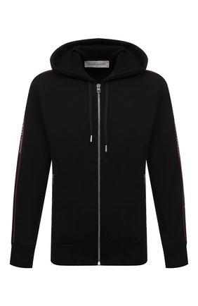 Мужской хлопковая толстовка ALEXANDER MCQUEEN черного цвета, арт. 654794/QRX75 | Фото 1 (Рукава: Длинные; Мужское Кросс-КТ: Толстовка-одежда; Длина (для топов): Стандартные; Материал внешний: Хлопок; Стили: Спорт-шик)