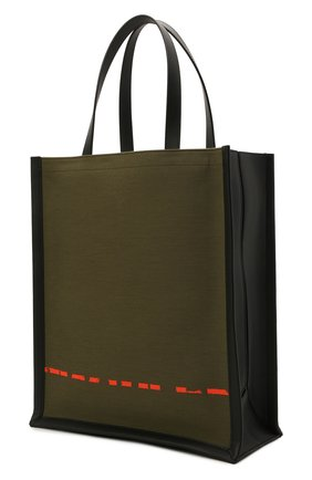 Мужская текстильная сумка-шопер ALEXANDER MCQUEEN хаки цвета, арт. 653165/2B410 | Фото 3