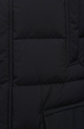 Мужская пуховик с меховой отделкой saturno-stp MOORER синего цвета, арт. SATURN0-STP/M0UGI100271-TEPA023   Фото 5 (Кросс-КТ: Куртка; Мужское Кросс-КТ: пуховик-короткий; Рукава: Длинные; Длина (верхняя одежда): До середины бедра; Материал внешний: Синтетический материал; Материал подклада: Синтетический материал; Материал утеплителя: Пух и перо; Стили: Кэжуэл)