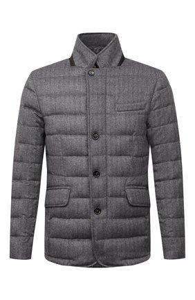 Мужская пуховая куртка из шерсти и кашемира zayn-ls9 MOORER темно-серого цвета, арт. ZAYN-LS9/M0UGI100307-TEPA228 | Фото 1