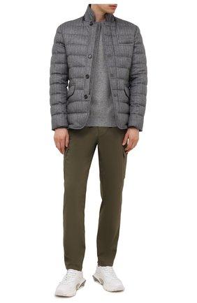 Мужская пуховая куртка из шерсти и кашемира zayn-ls9 MOORER темно-серого цвета, арт. ZAYN-LS9/M0UGI100307-TEPA228 | Фото 2