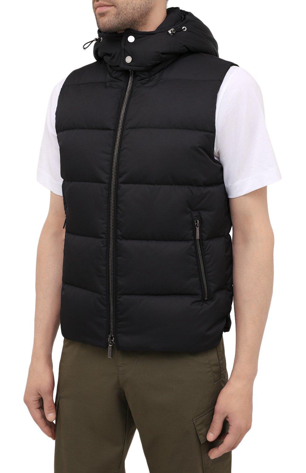 Мужской пуховый жилет fayer-wk MOORER черного цвета, арт. FAYER-WK/M0UGI100180-TEPA022 | Фото 3 (Кросс-КТ: Куртка, Пуховик; Материал внешний: Синтетический материал; Материал подклада: Синтетический материал; Длина (верхняя одежда): Короткие; Материал утеплителя: Пух и перо; Стили: Кэжуэл)