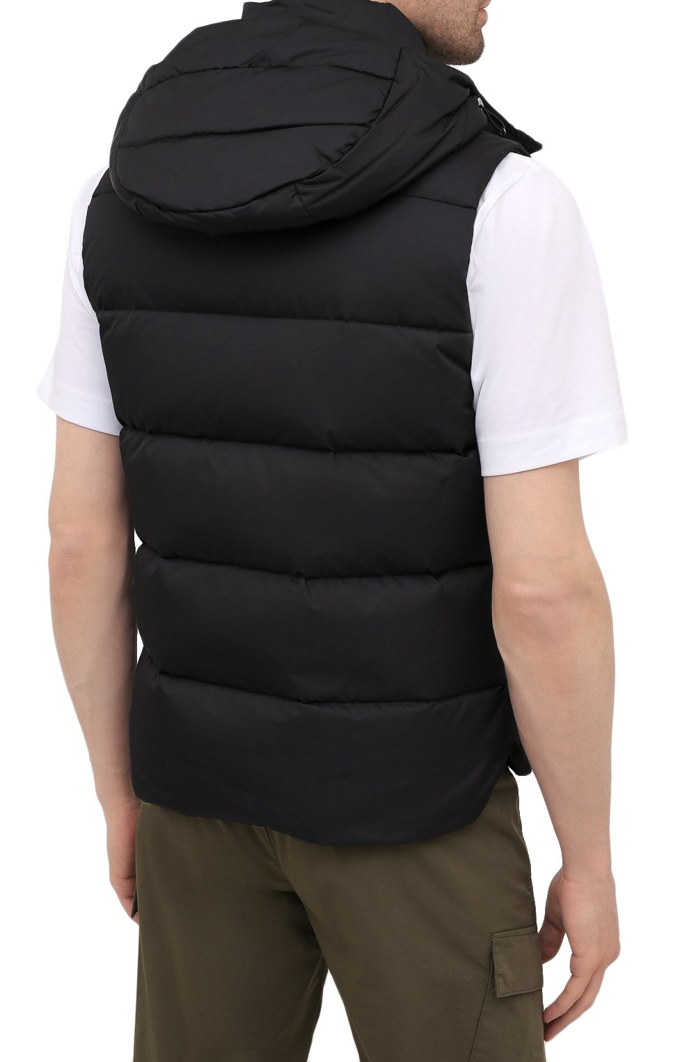 Мужской пуховый жилет fayer-wk MOORER черного цвета, арт. FAYER-WK/M0UGI100180-TEPA022 | Фото 4 (Кросс-КТ: Куртка, Пуховик; Материал внешний: Синтетический материал; Материал подклада: Синтетический материал; Длина (верхняя одежда): Короткие; Материал утеплителя: Пух и перо; Стили: Кэжуэл)
