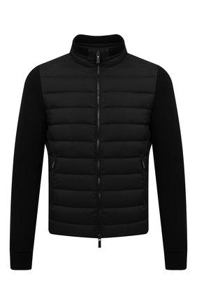 Мужская комбинированная куртка cattaneo-s3r MOORER черного цвета, арт. CATTANE0-S3R/M0UB0100003-TEPA003 | Фото 1