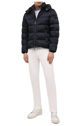 Мужская пуховая куртка brett-sh MOORER синего цвета, арт. BRETT-SH/M0UGI100134-TEPA174 | Фото 2 (Материал внешний: Синтетический материал; Материал подклада: Синтетический материал; Длина (верхняя одежда): Короткие; Рукава: Длинные; Мужское Кросс-КТ: пуховик-короткий; Кросс-КТ: Куртка; Стили: Кэжуэл; Материал утеплителя: Пух и перо)