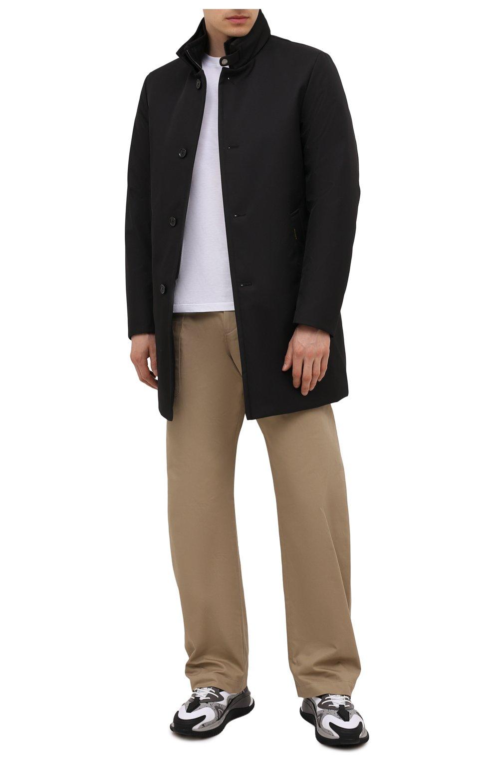 Мужская пуховик bond-wi MOORER черного цвета, арт. B0ND-WI/M0UGI100130-TEPA227   Фото 2 (Кросс-КТ: Куртка; Мужское Кросс-КТ: пуховик-короткий; Рукава: Длинные; Длина (верхняя одежда): До середины бедра; Материал внешний: Синтетический материал; Стили: Классический; Материал подклада: Синтетический материал; Материал утеплителя: Пух и перо)