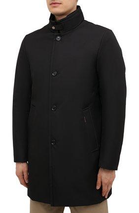 Мужская пуховик bond-wi MOORER черного цвета, арт. B0ND-WI/M0UGI100130-TEPA227   Фото 3 (Кросс-КТ: Куртка; Мужское Кросс-КТ: пуховик-короткий; Рукава: Длинные; Длина (верхняя одежда): До середины бедра; Материал внешний: Синтетический материал; Стили: Классический; Материал подклада: Синтетический материал; Материал утеплителя: Пух и перо)