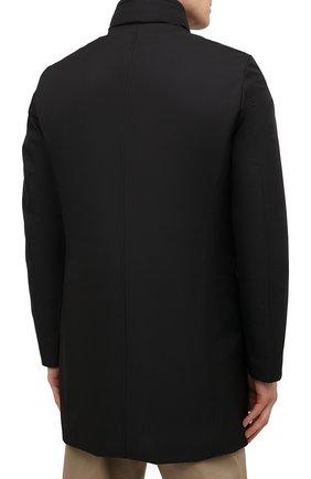 Мужская пуховик bond-wi MOORER черного цвета, арт. B0ND-WI/M0UGI100130-TEPA227   Фото 4 (Кросс-КТ: Куртка; Мужское Кросс-КТ: пуховик-короткий; Рукава: Длинные; Длина (верхняя одежда): До середины бедра; Материал внешний: Синтетический материал; Стили: Классический; Материал подклада: Синтетический материал; Материал утеплителя: Пух и перо)