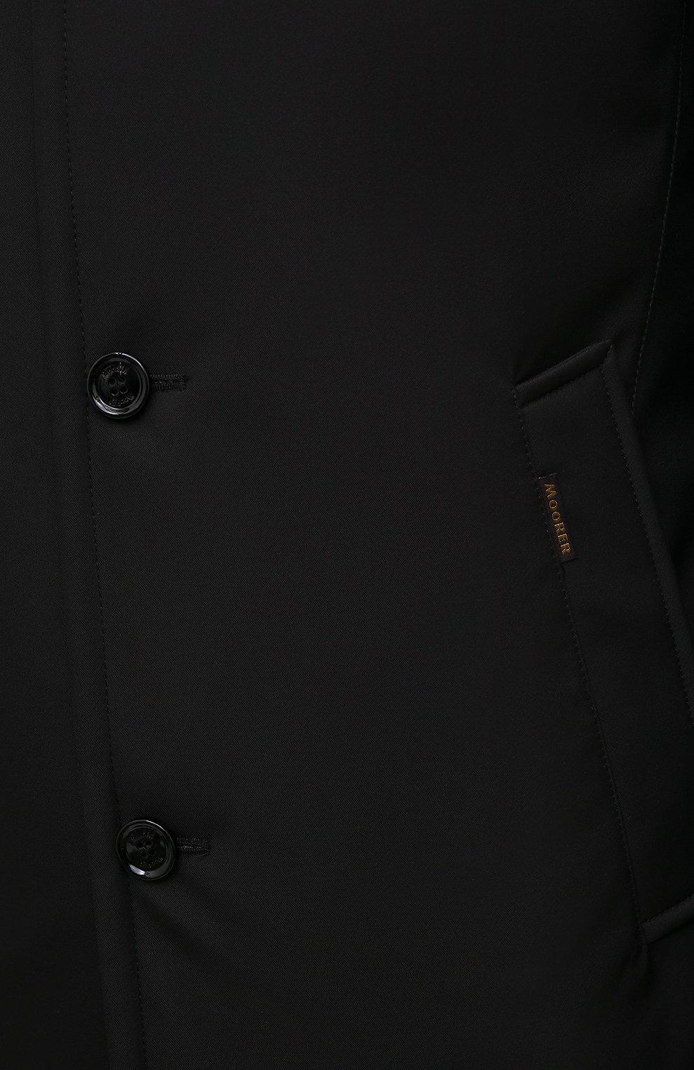 Мужская пуховик bond-wi MOORER черного цвета, арт. B0ND-WI/M0UGI100130-TEPA227   Фото 5 (Кросс-КТ: Куртка; Мужское Кросс-КТ: пуховик-короткий; Рукава: Длинные; Длина (верхняя одежда): До середины бедра; Материал внешний: Синтетический материал; Стили: Классический; Материал подклада: Синтетический материал; Материал утеплителя: Пух и перо)