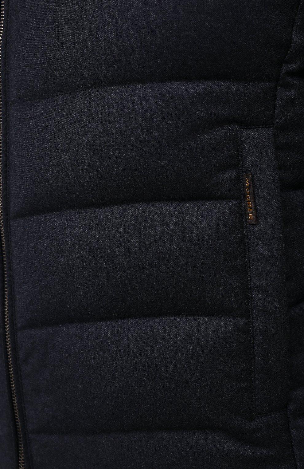 Мужской пуховый жилет oliver-l MOORER синего цвета, арт. 0LIVER-L/M0UGL100050-TEPA217 | Фото 5 (Кросс-КТ: Куртка, Пуховик; Материал внешний: Шерсть; Материал подклада: Синтетический материал; Длина (верхняя одежда): Короткие; Материал утеплителя: Пух и перо; Стили: Кэжуэл)