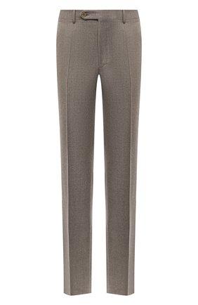 Мужские шерстяные брюки CANALI темно-бежевого цвета, арт. 71012/AN00019 | Фото 1