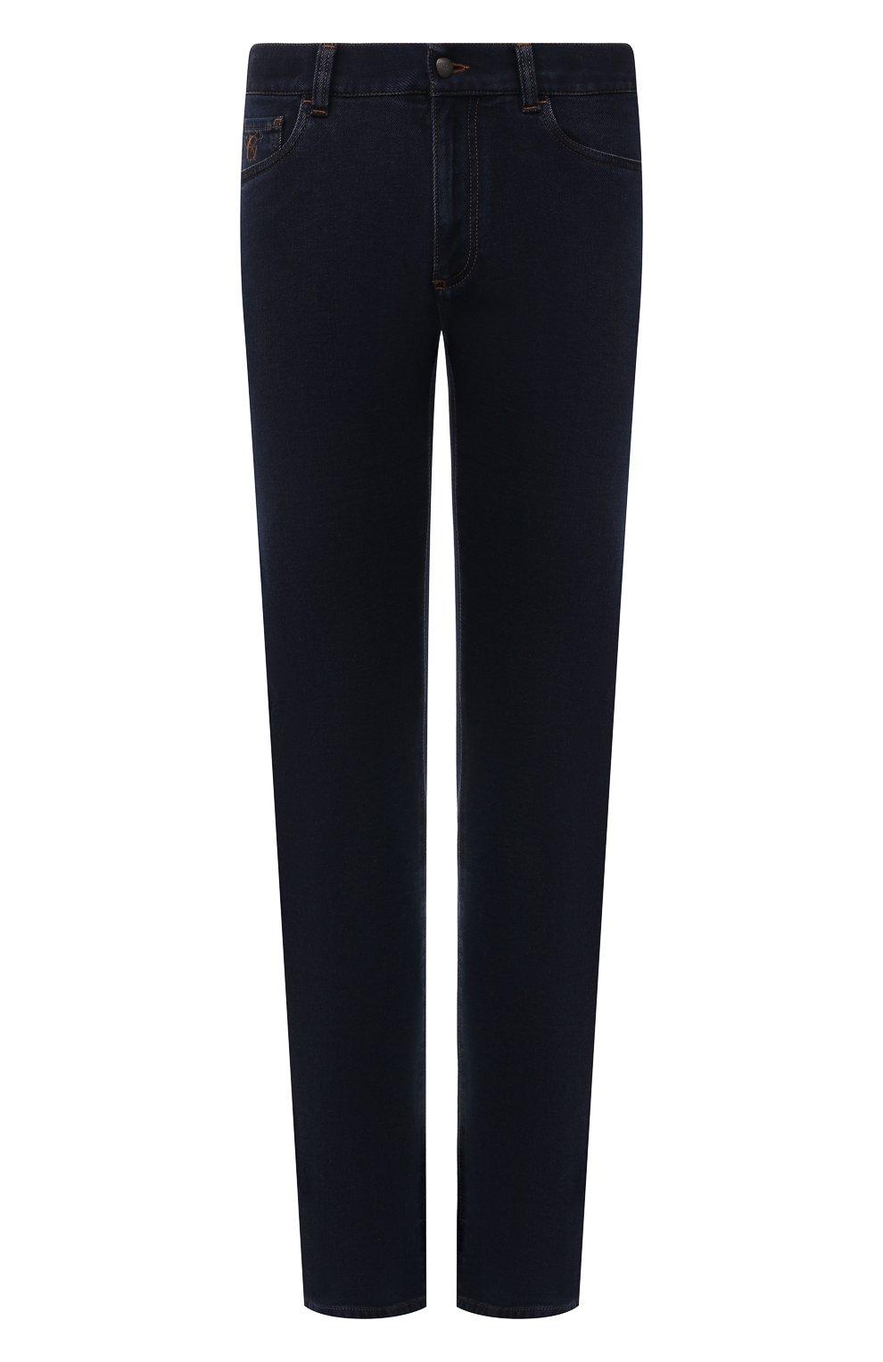 Мужские джинсы CANALI темно-синего цвета, арт. 91700R/PD00817 | Фото 1